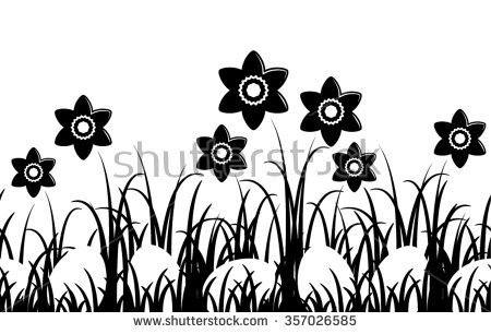 450x306 Clump Silhouette Clipart Black And White