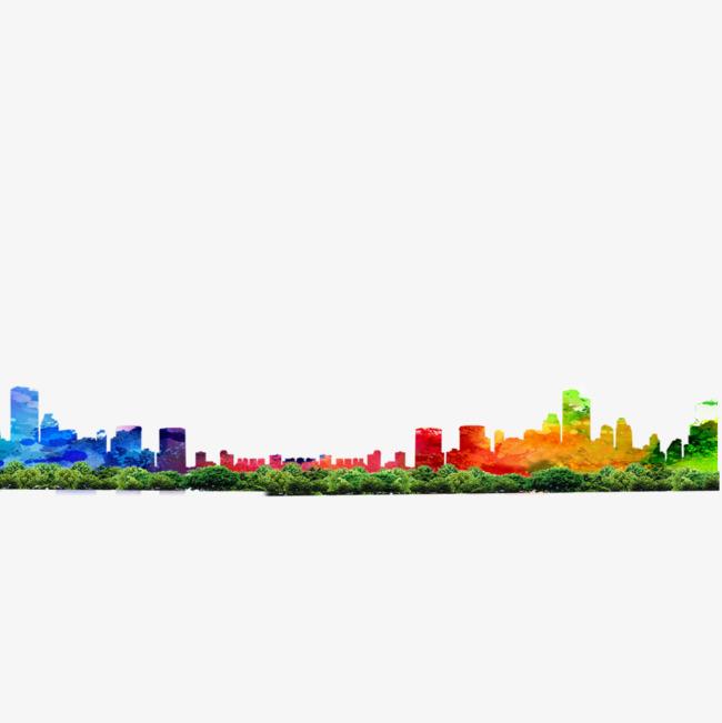 650x651 Green City Silhouette, City Silhouette, City, City U200bu200bbuilding Png
