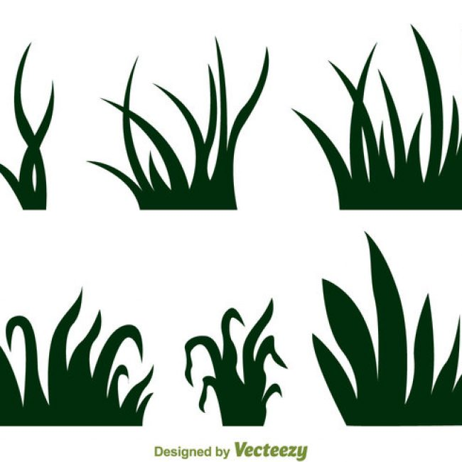 650x650 Free Vector Grass Silhouette Vectors