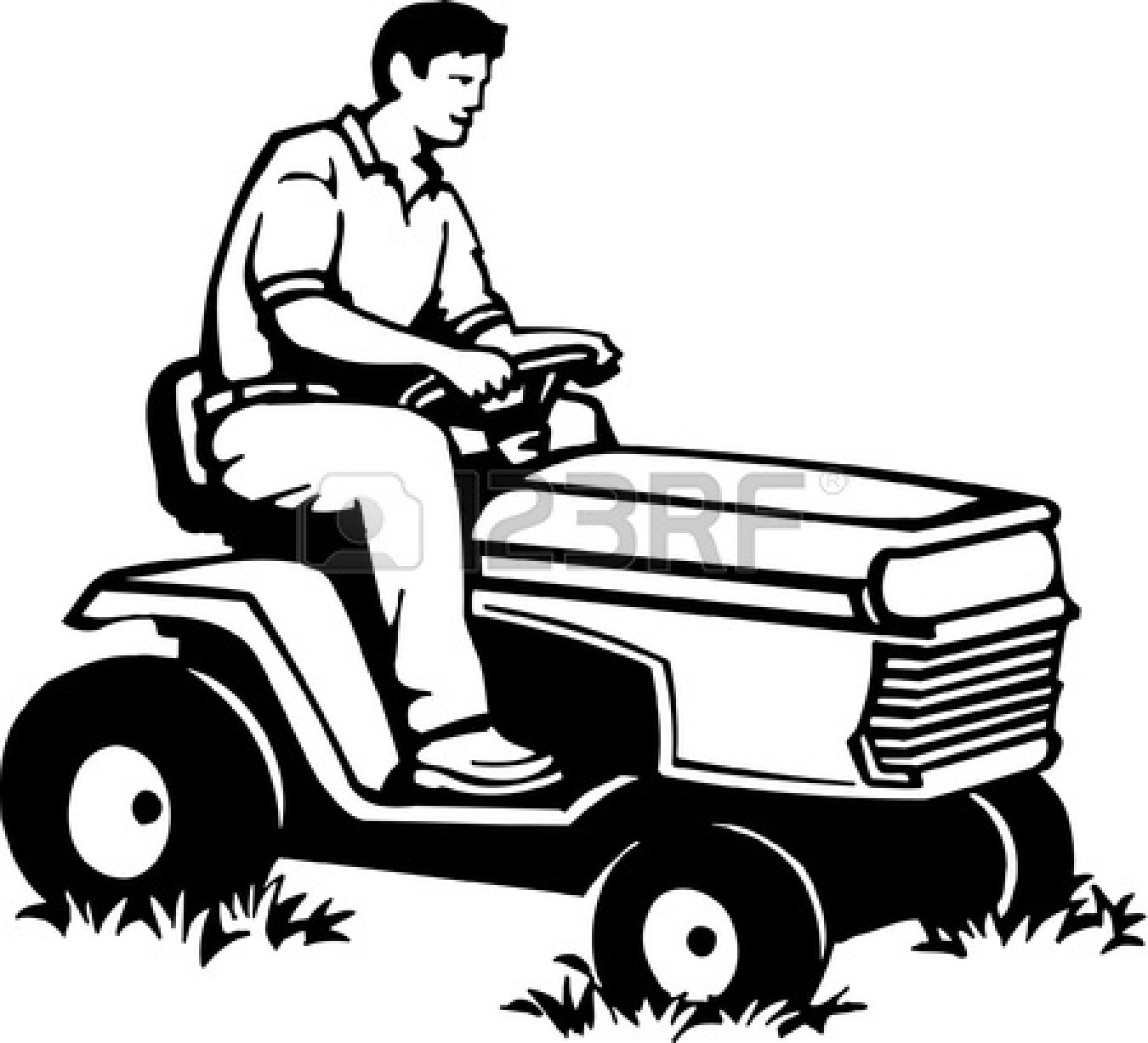 1350x1227 Man Clipart Mowing Lawn