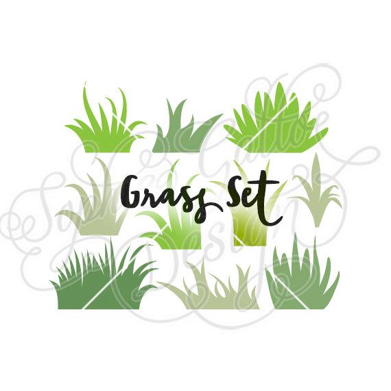 570x570 Grass Set Design, Svg Dxf Digital Download File Silhouette Cricut