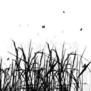 320x320 Grass Silhouette Black Stock Vector Colourbox