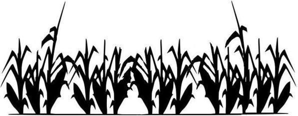 597x233 Corn Clipart Silhouette 3188377