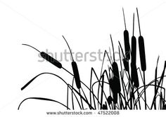 236x167 Grass, Flowers And Butterflies Silhouettes, 84471, Silhouettes