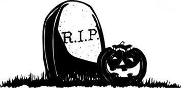 355x172 Gravestone With Pumpkin Clip Art Vector, Free Vectors