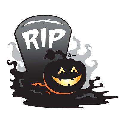 416x416 Halloween Tombstone Gravestone Pumpkin Grouping Premium Clipart