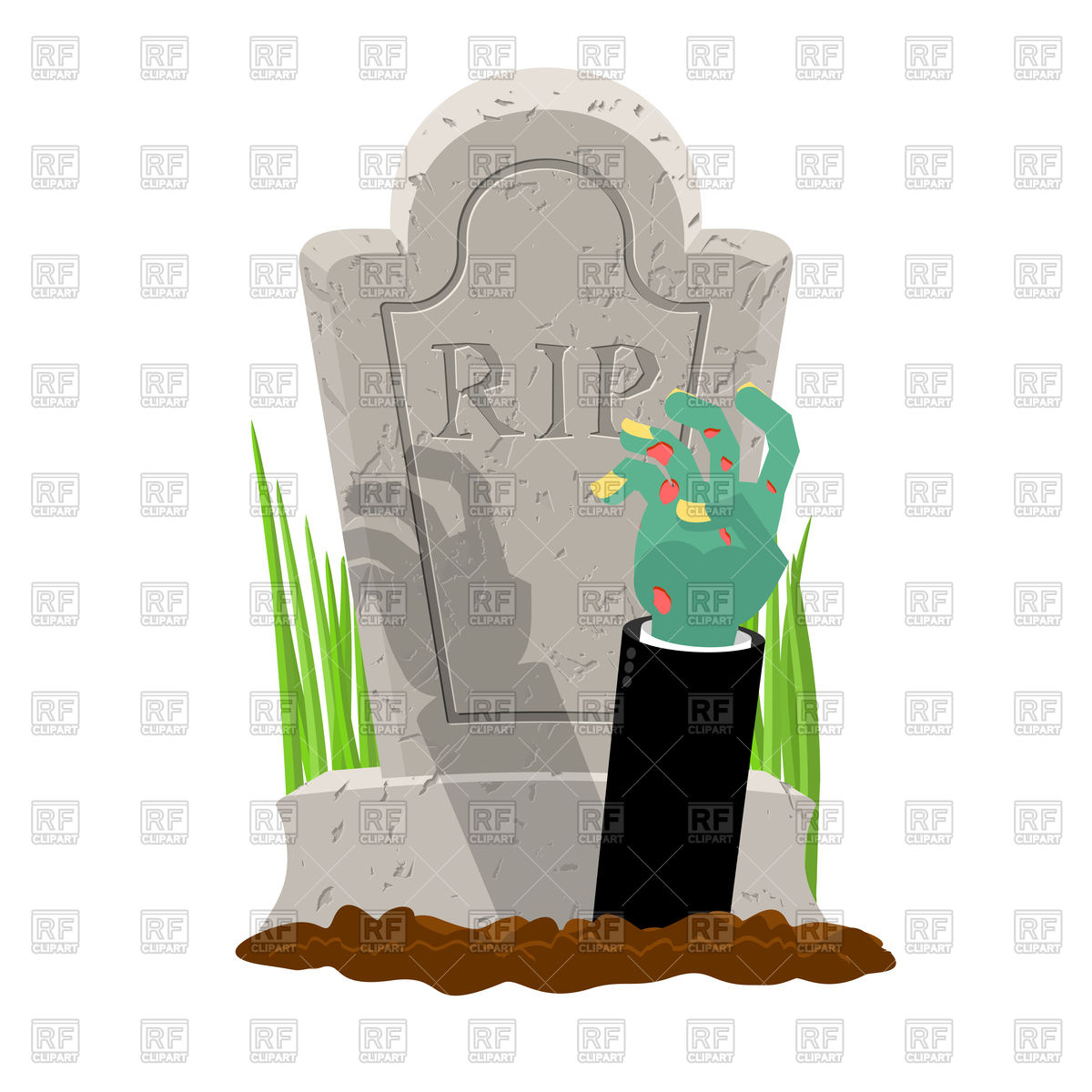 1200x1200 Silhouette Of Gravestone Royalty Free Vector Clip Art Image