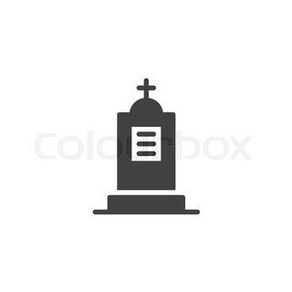 320x320 Black silhouettes of tombstones, crosses and gravestones. Elements