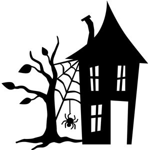 300x300 Haunted House Silhouette Design, Silhouette And Shop