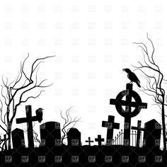 236x236 Halloween Graveyard Silhouettes