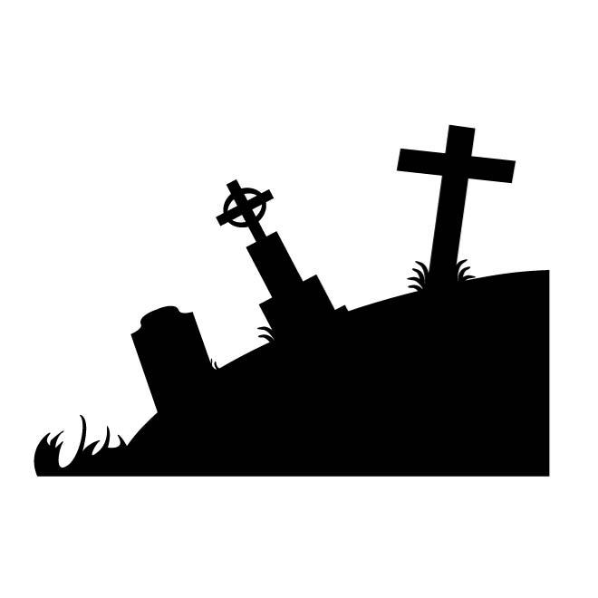 660x660 Graveyard Silhouette