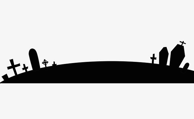 650x400 Graveyard Cross, Halloween, Night Png, Cartoon Hand Drawing Png