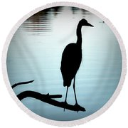 180x180 Great Blue Heron Silhouette Photograph By Brian Wallace