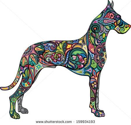 450x427 Great Dane Tattoo Tattoo Ideas Tattoo, Tatting