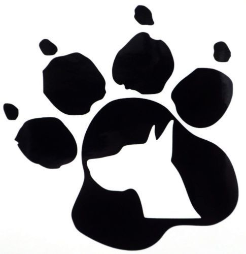 485x500 Dog Paw Silhouette Group