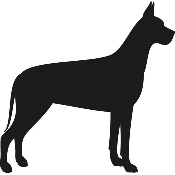 600x600 Great Dane Stamp (Silhouette) Dog, Cat Amp Fur Baby Stamps