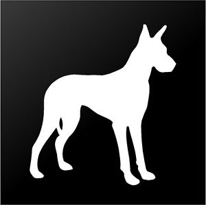300x299 Great Dane Vinyl Decal Car Window Laptop Dog Breed Silhouette