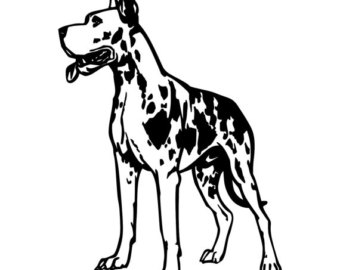 great dane silhouette images at getdrawings com free for personal rh getdrawings com great dane head clipart great dane clipart black and white