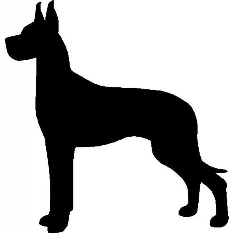 800x800 Dog Breed Silhouette Wall Hanging Magnetic Memo Great Dane