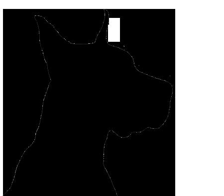 450x394 Silhouette Dog