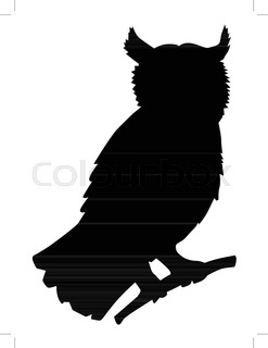 247x320 Silhouette Of Flying Owl Stock Vector Colourbox