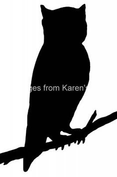 235x354 Bird Silhouettes Silhouettes, Owl And Template
