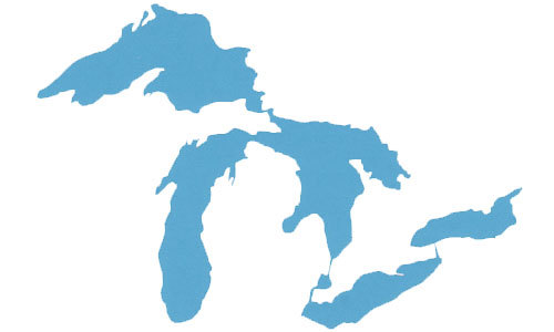 500x300 Great Lakes Silhouette Sticker