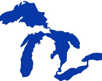 340x270 Great Lakes Decal Etsy