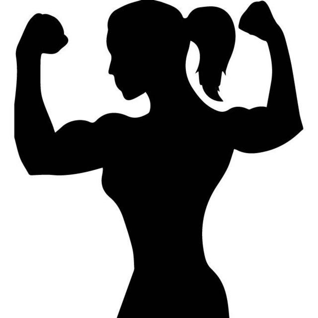 640x640 Female Bodybuilder Silhouette Athletics Wall Stickers Sports Decor