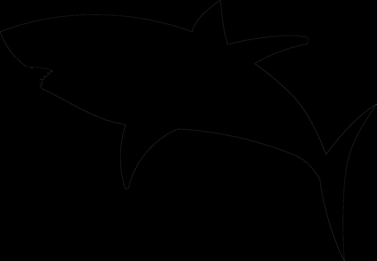 1310x909 Great White Shark Silhouette