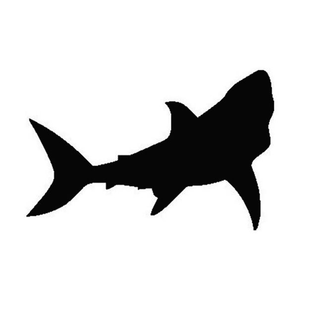 640x640 1711cm Great White Shark Car Stickers Motorcycle Fun Personalized