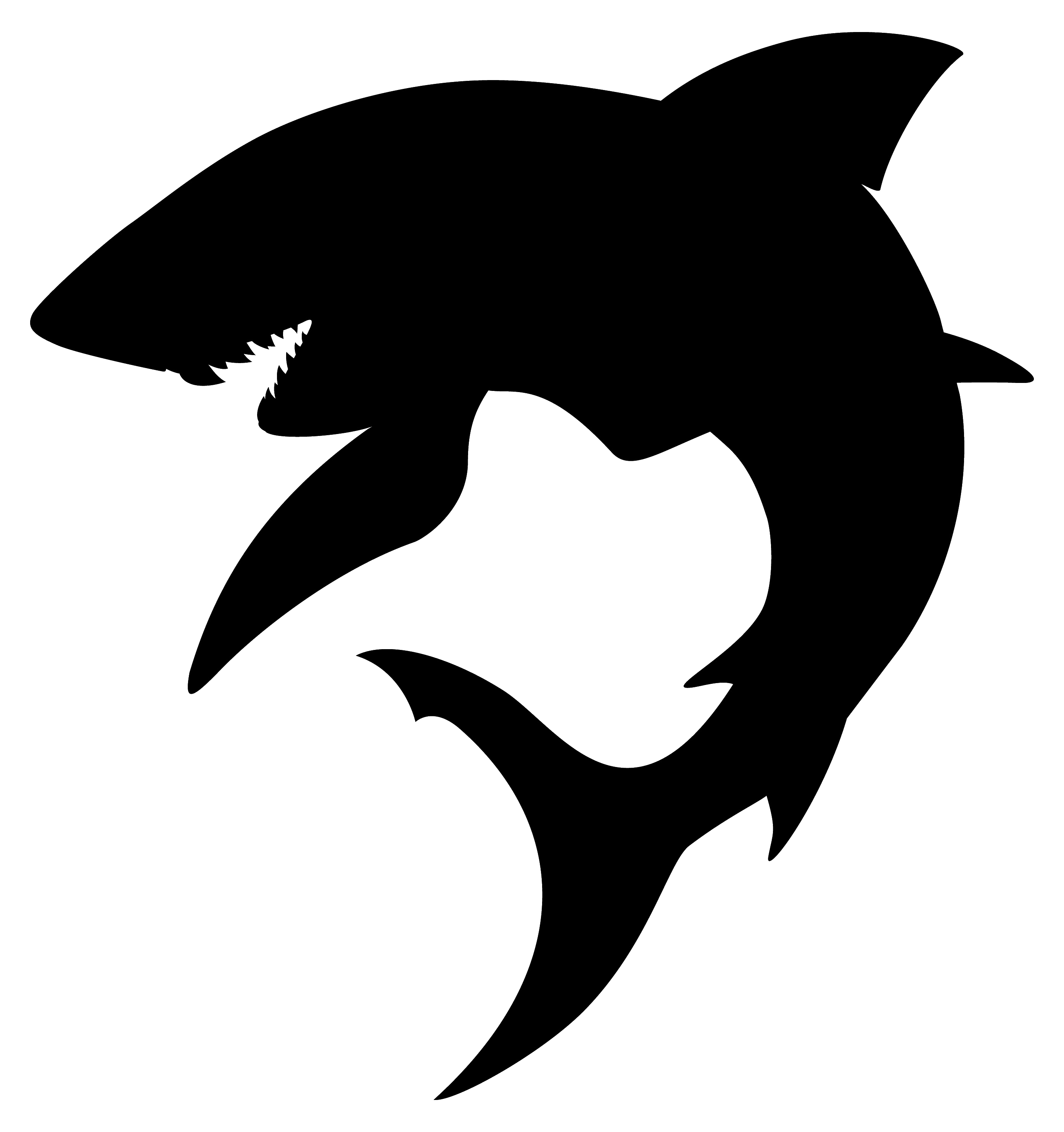 2789x2968 Great White Shark Silhouette Tattoo 8906218