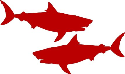 429x255 37 Awesome Great White Shark Silhouette Images Shaaaaaarkweeeeek