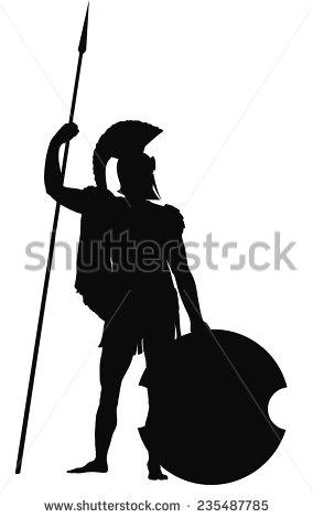 284x470 Greek Warrior Clipart