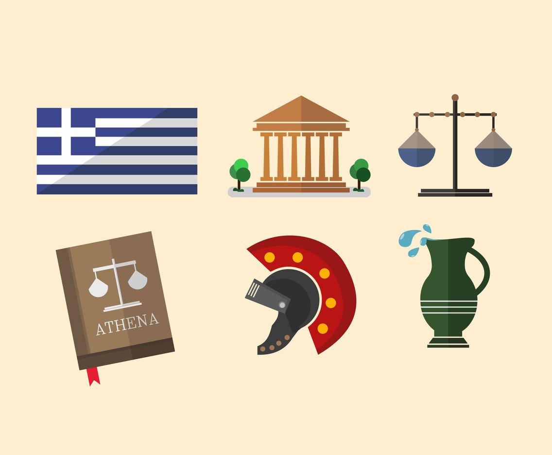1136x936 Greece Flat Symbols Vector Vector Art Amp Graphics
