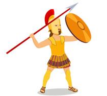 210x188 3d Rendering Ancient Greek Soldier On White. 3d Rendering