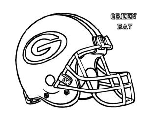 320x240 Packers Coloring Pages Football Helmet Green Bay Packers Coloring