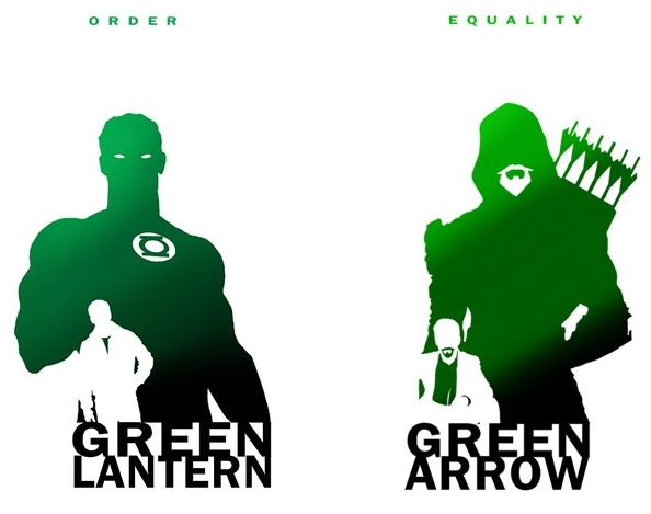 594x469 Green Lantern Green Arrow Comic Art Green Arrow