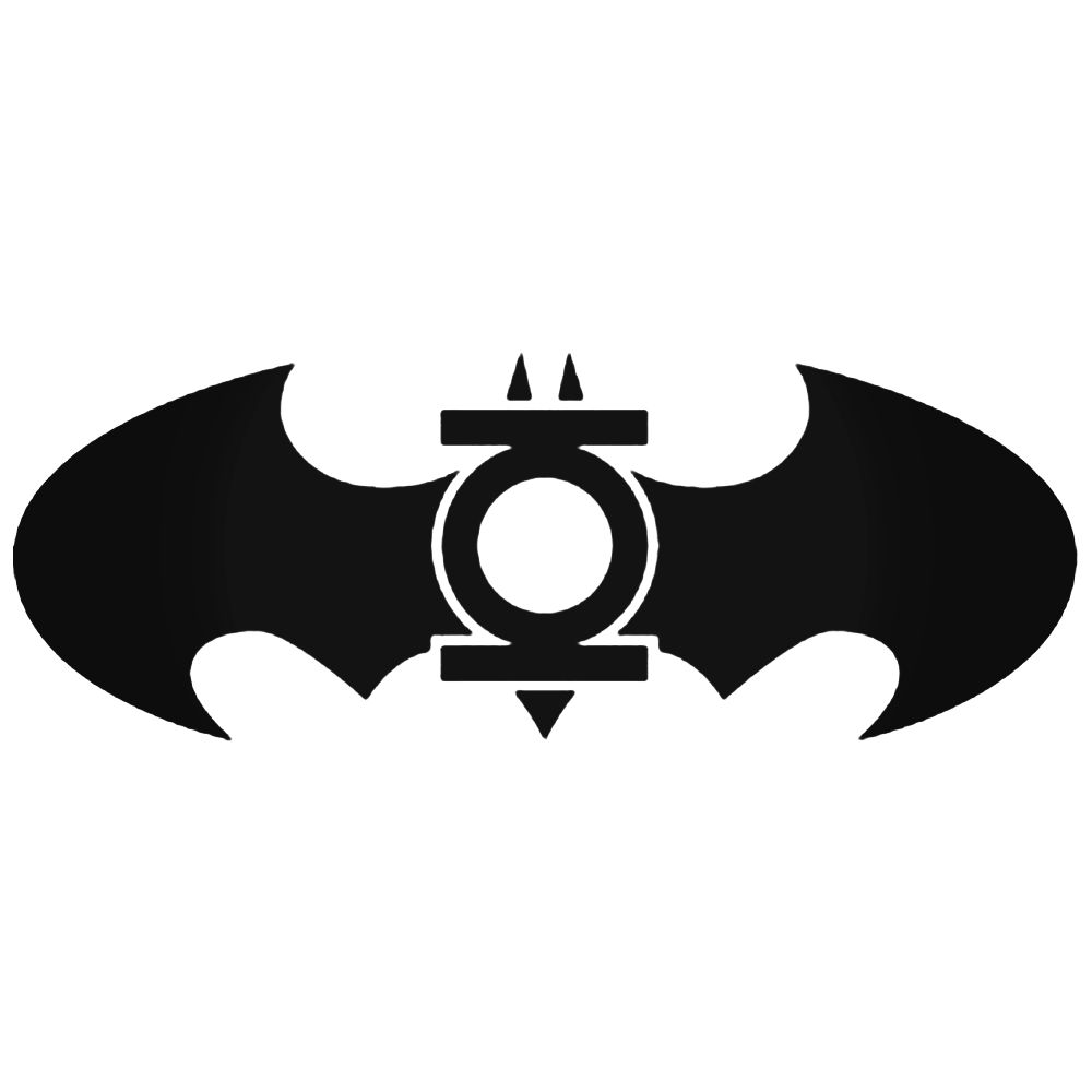 1000x1000 Green Lantern Batman Logo Silhouette Decal