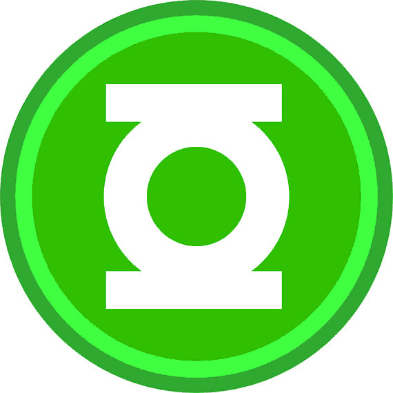 570x570 Green Lantern Superhero Party Supply Logo Silhouette Studio