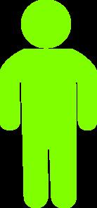 138x295 Green Child Silhouette Clip Art