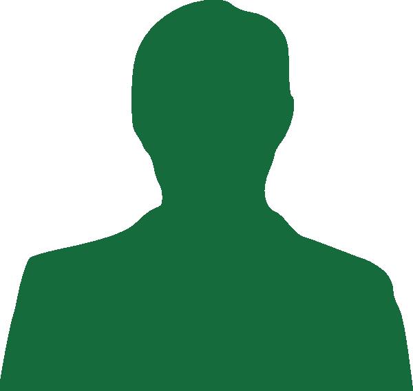 600x568 Green Man Silhouette Clip Art