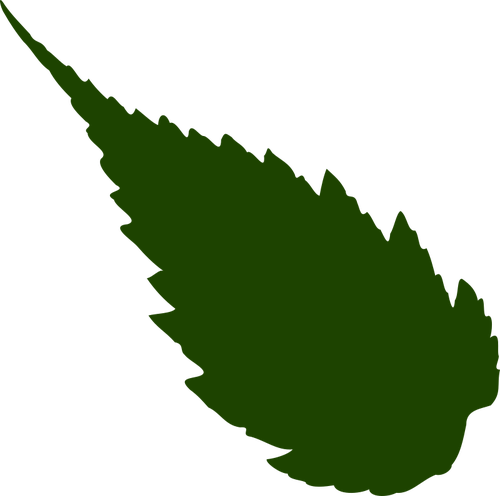 500x496 Image Of Drak Green Silhouette Of A Leaf Public Domain Vectors