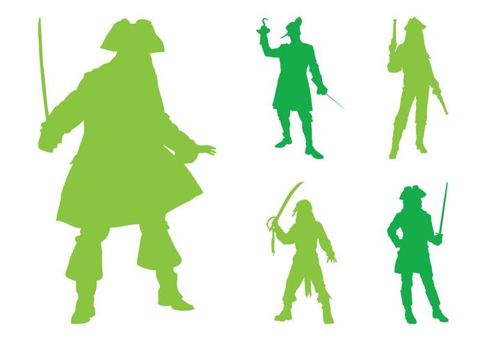 700x490 Pirate Silhouettes Graphics