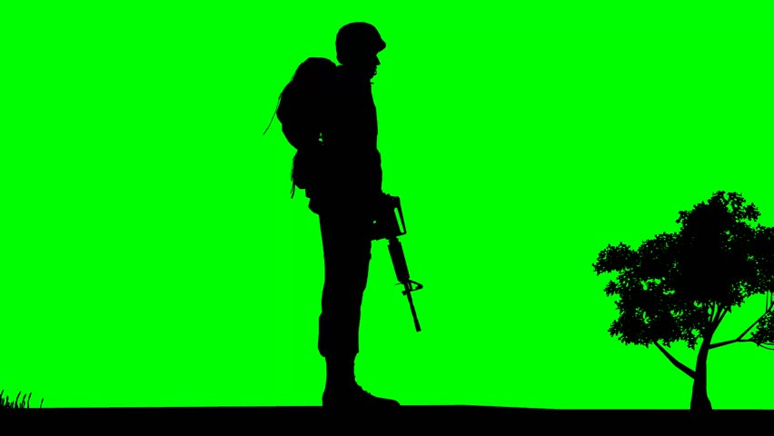 852x480 Silhouette Of Clumsy Man Dropping Boxes On Green Screen In Slow