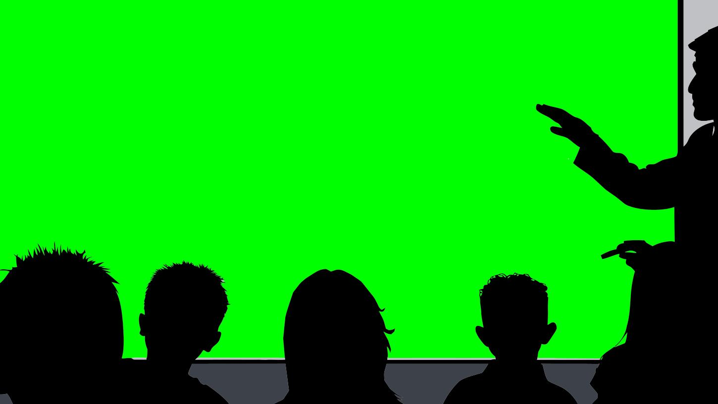 1450x816 Classroom Silhouette 169 (Hd) With Green Screen Clipart