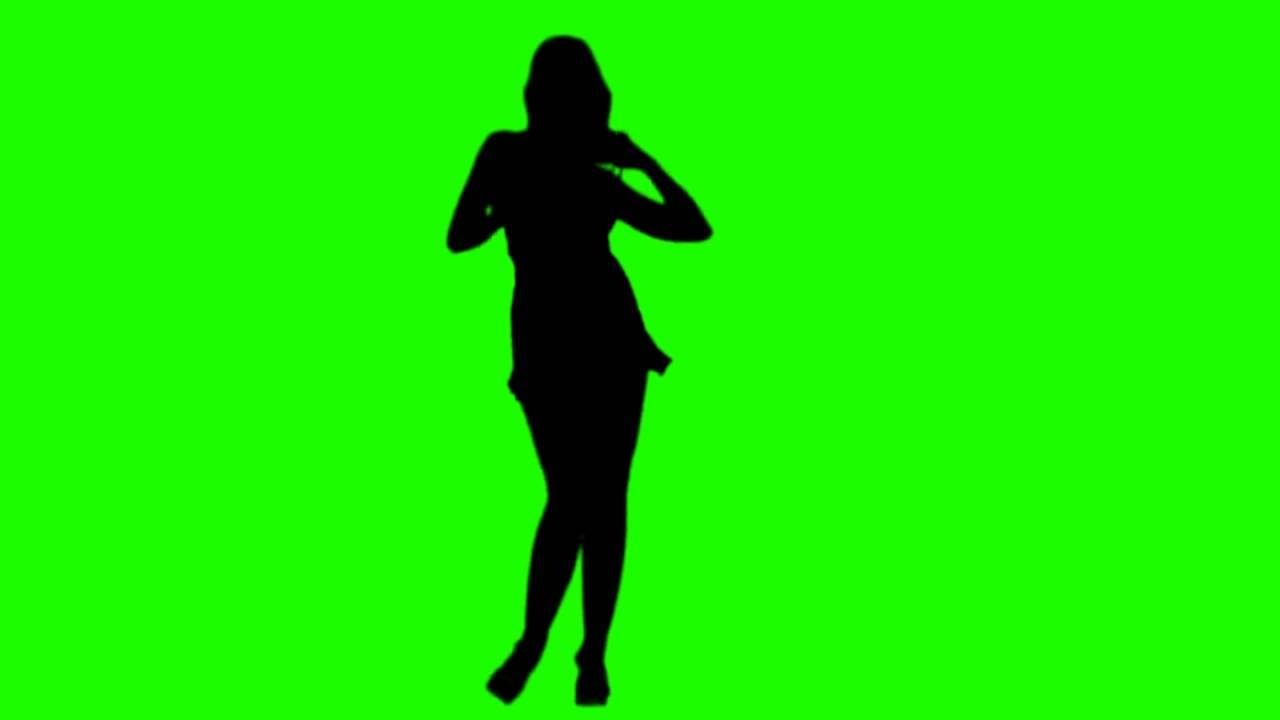 1280x720 Free Hd Green Screen Dancing Girls Silhouette 03