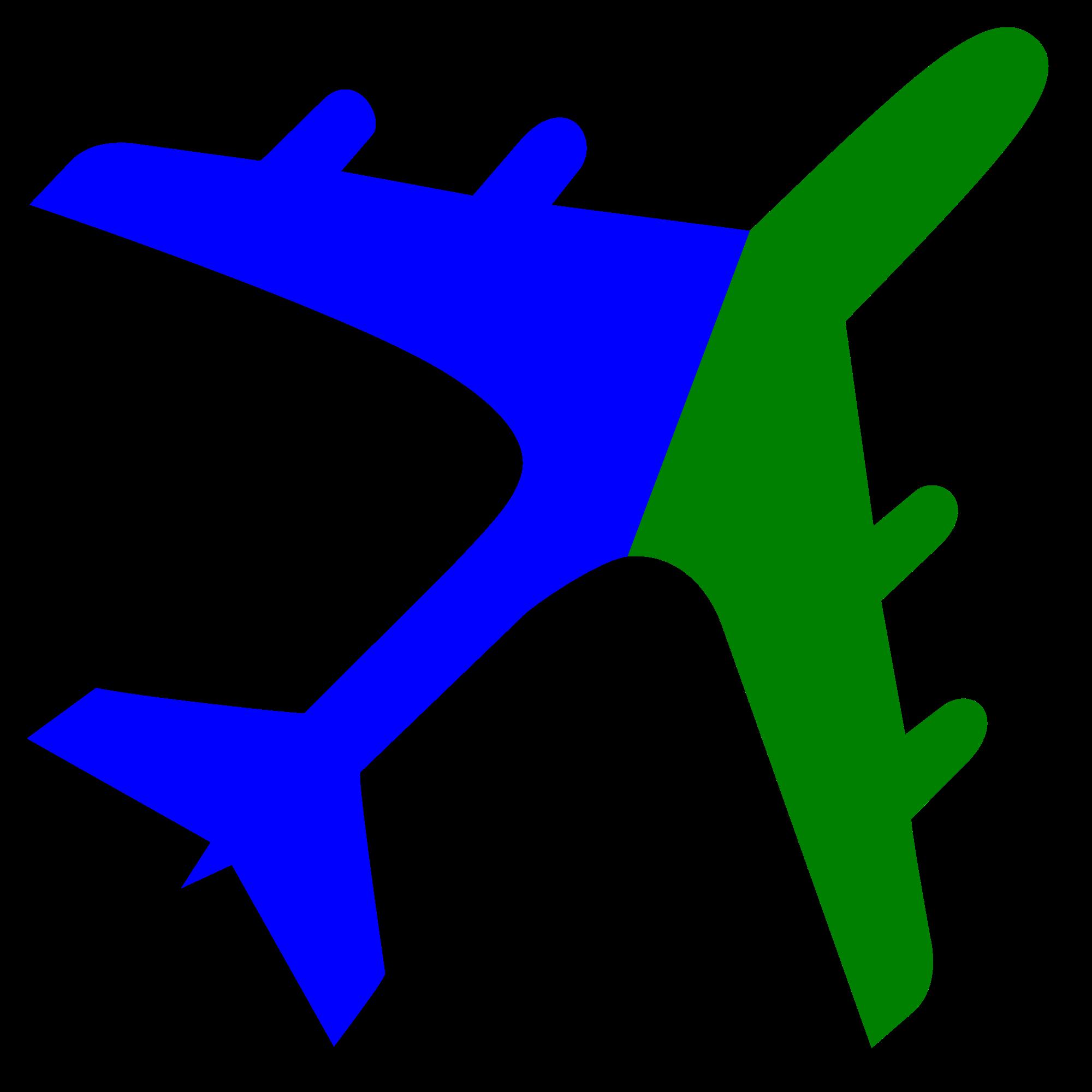 2000x2000 Fileairplane Silhouette Blue Green.svg