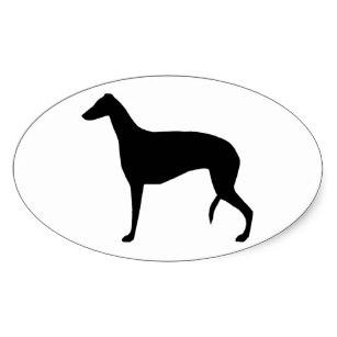 307x307 Greyhound Silhouette Stickers Zazzle