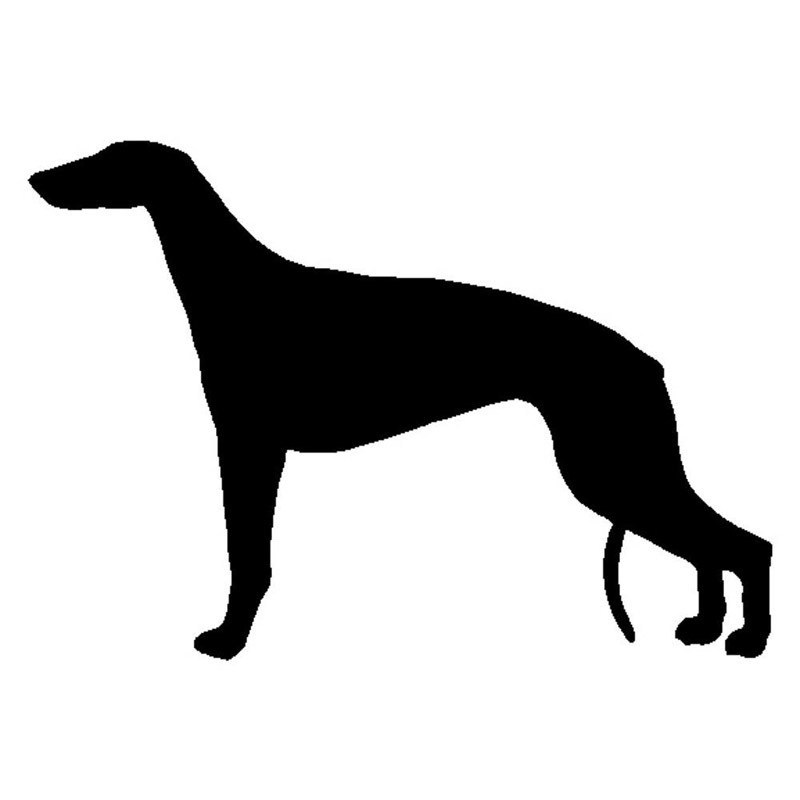 800x800 Greyhound Dog Vinyl Decal Silhouette Car Stickers
